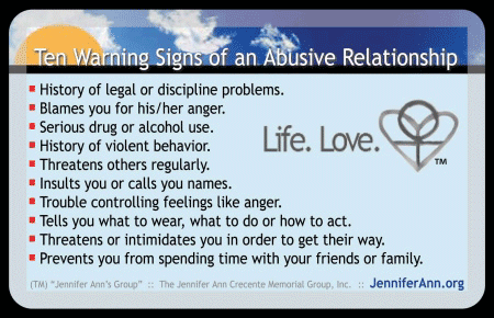 Verbally abusive relationships warning signs