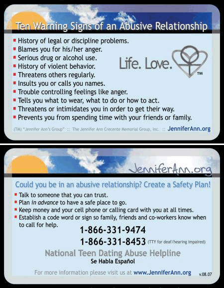 warning signs of an abusive relationship pdf