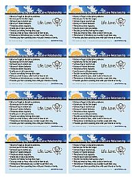8 1/2 x 11 inch sheet with front of English cards
