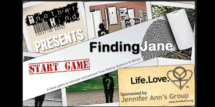 Finding Jane is an award-winning video game developed to prevent teen dating violence.